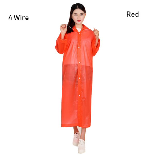Rain Cover Outdoor Poncho Waterproof Raincoat RED 4 WIRE Red 4 Wire
