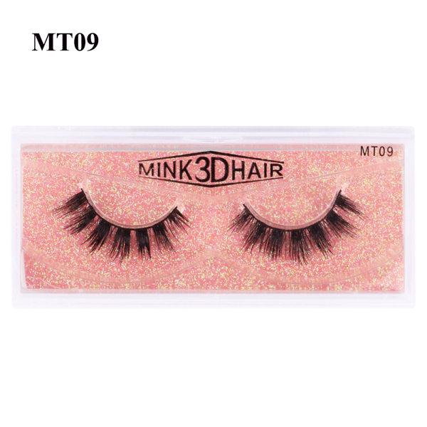 SKONHED 1 par falska ögonfransar 3D 100% Mink Hair MT09