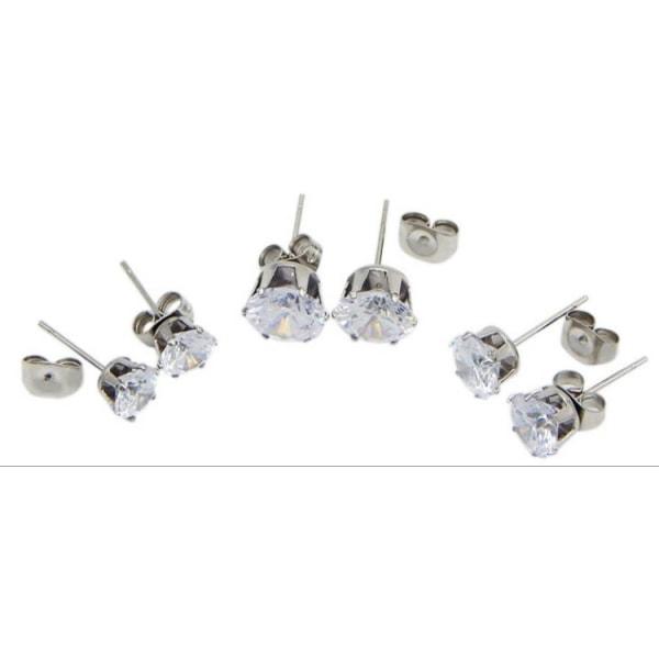 Allergivänliga örhängen med sten 3mm