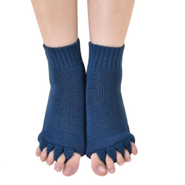 1 par massage Five Toe Socks Toe Separator för tårna för Wome