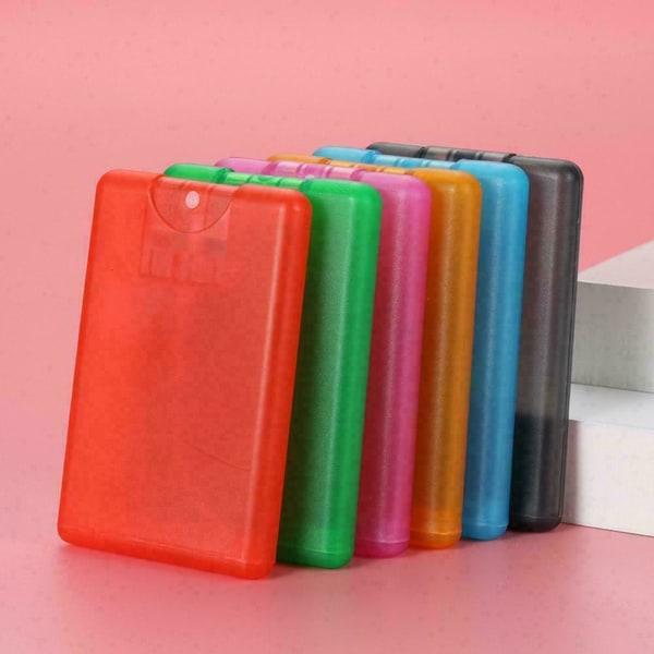 1st plastkort typ bärbar parfym sprayflaska vatten D green