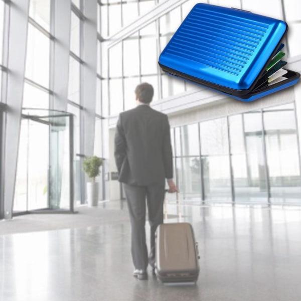 Blockerande aluminiumkreditkorthållare Aluma Case Anti Scan Wallet