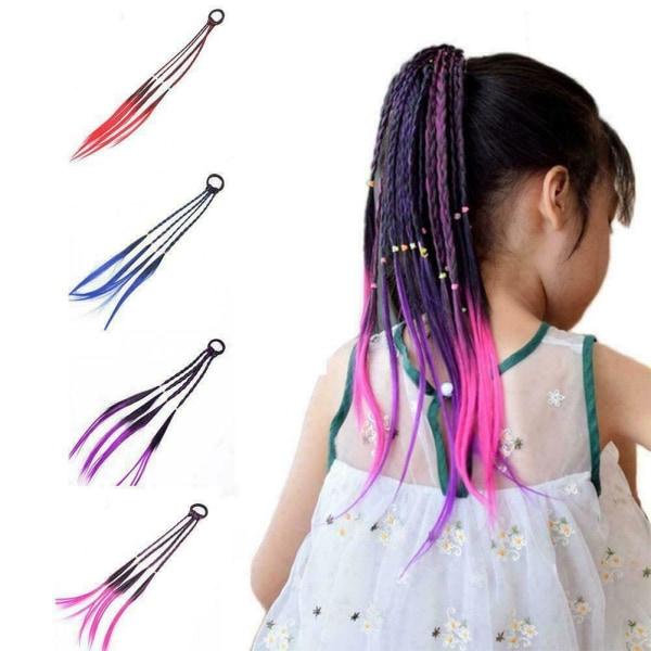 Kid elastisk gummi peruk huvudband flickor Twist fläta rep huvudbonad