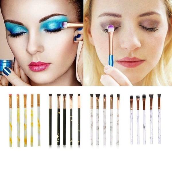 Makeupborstar Set Face Foundation Ögonbryn Blush Powder