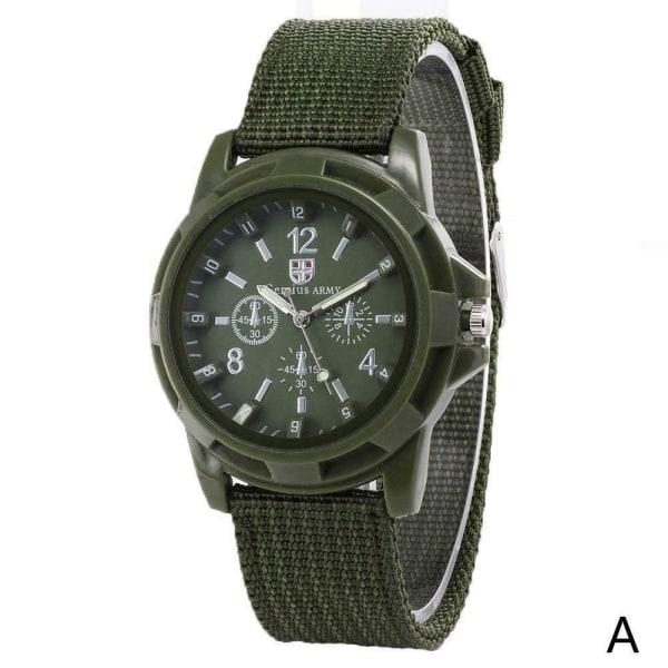 Herr Nylon Watch Band Armé Militär Watch Quartz Movement