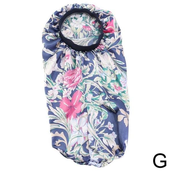 Kvinnor Flicka Mode Imitation Silk Printing Nightcap Sleeping
