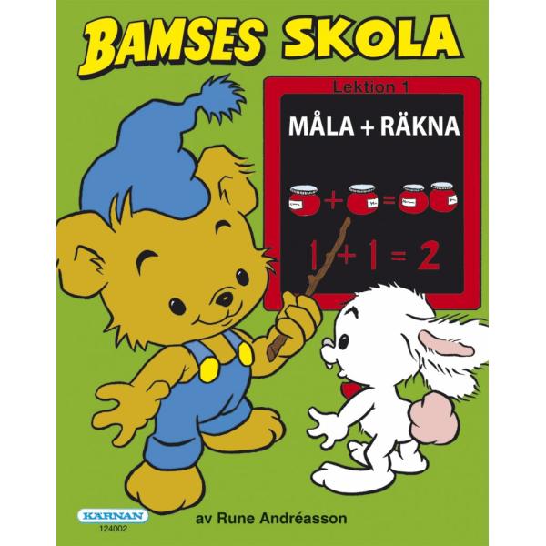 Bamse, Bamses skola, måla + räkna