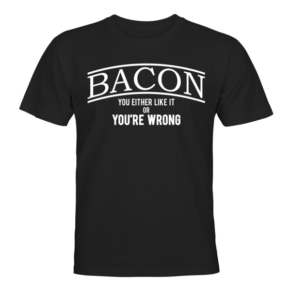 Bacon - T-SHIRT - UNISEX Svart - 2XL