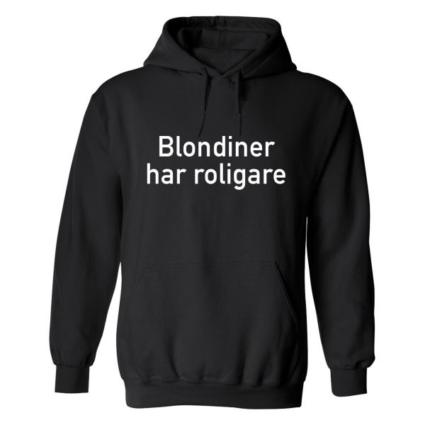 Blondiner Har Roligare - Hoodie / Tröja - DAM Svart - S