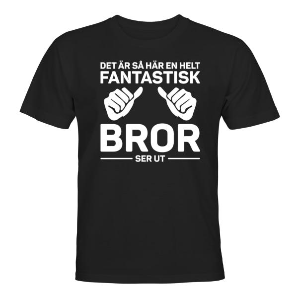 Fantastisk Bror - T-SHIRT - UNISEX Svart - 4XL