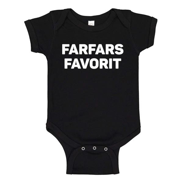 Farfars Favorit - Baby Body svart Svart - Nyfödd