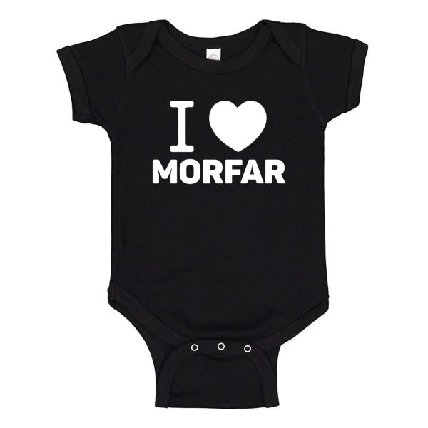 Jag Älskar Morfar - Baby Body svart Svart - 6 månader