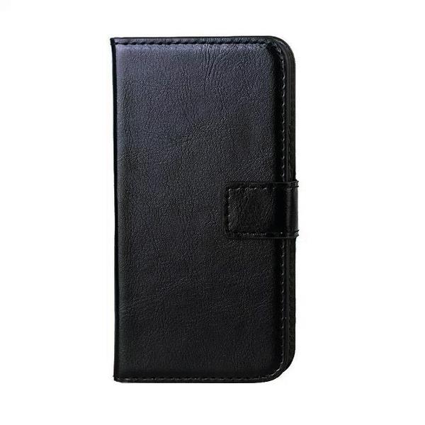 Samsung Galaxy S5 Fodral/Skydd/Plånbok i Läder (SVART) svart
