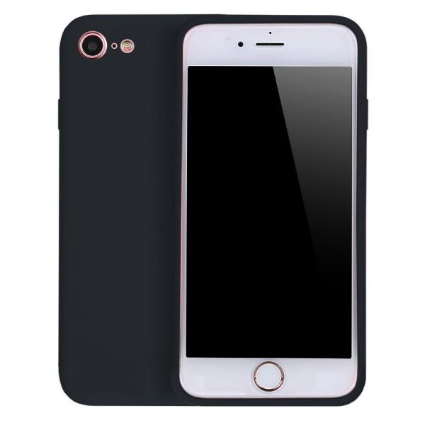 iPhone 8 Silikonskal Svart Matt svart