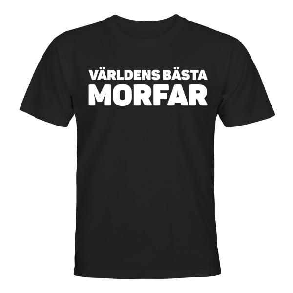 Världens Bästa Morfar - T-SHIRT - HERR Svart - M