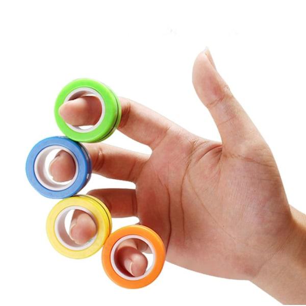 Magnetiska Ringar / Fidget Toys - Magnetkulor Anti stress blå Blå