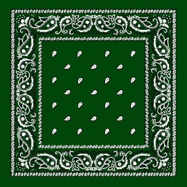 Grön Paisley Bandana  Grön