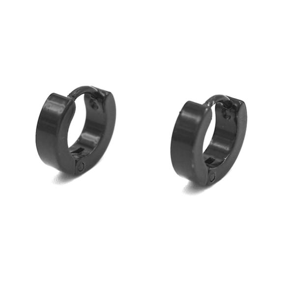 Svarta ringörhängen - små  Svart