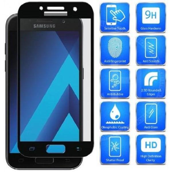 2-PACK Samsung A5 2016 FullFrame® 0.26mm 2.5D 9H Härdat Glas Svart