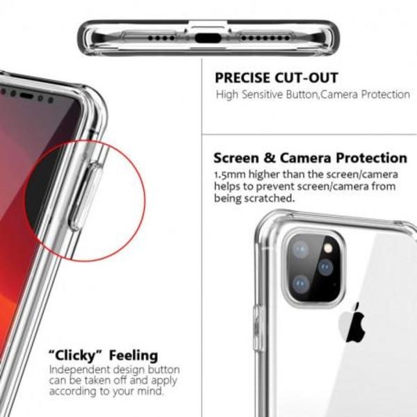 360° Heltäckande Silikonfodral iPhone 12 Mini Transparent