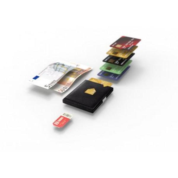 Exentri Smart Plånbok - RFID Säker Brun