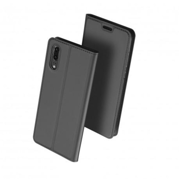 Huawei P20 Pro Flipfodral Smooth® Kortfack Svart
