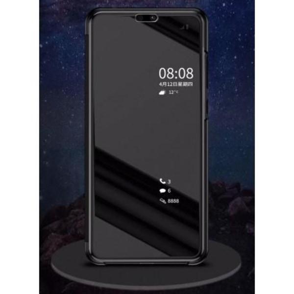 Huawei P20 Pro Smart Flipfodral Clear View Standing V2 Rocket® Svart