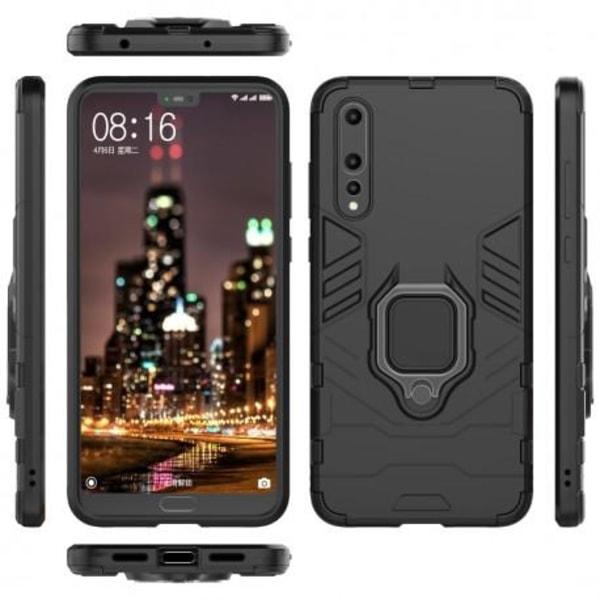 Huawei P20 Pro Stöttåligt Skal med Ringhållare ThinArmor® Svart
