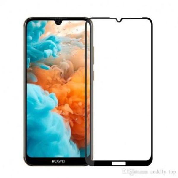 Huawei Y6 2019 FullFrame® 0.26mm 2.5D 9H Härdat Glas Transparent