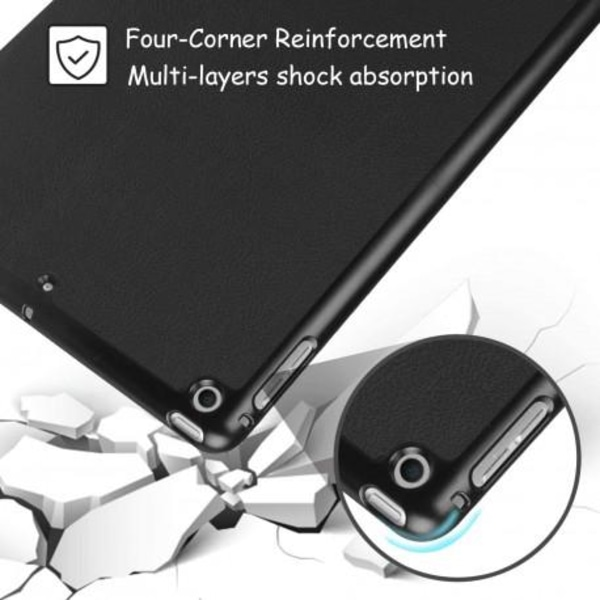 iPad Mini 5 & 4 Stilrent Trifold Fodral V2 Svart