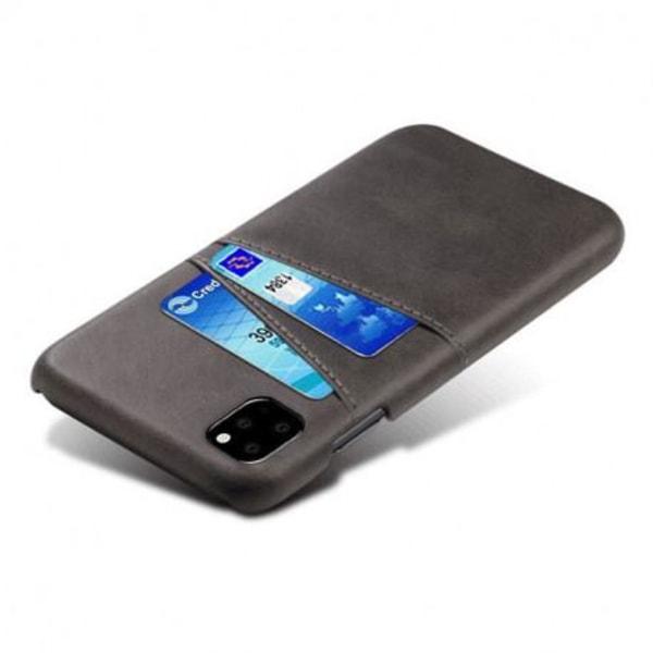 iPhone 12 Mini Stötdämpande Korthållare Retro® V2 Svart