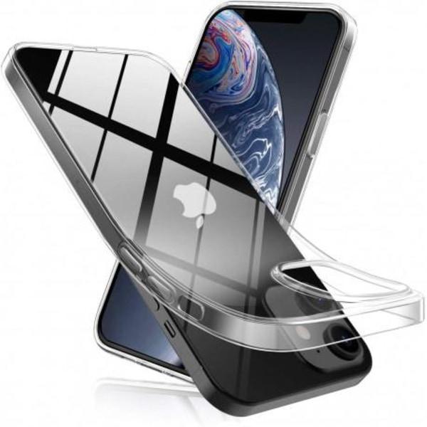 iPhone 12 Mini Stötdämpande Silikon Skal Simple® Transparent