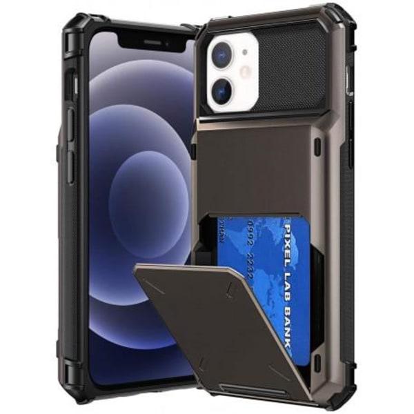 iPhone 12 Mini Stöttåligt Skal med Kortfack Void® Svart