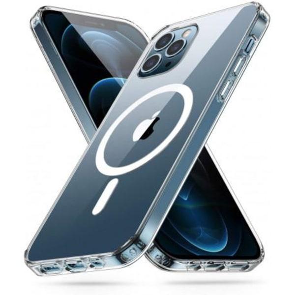 iPhone 12 Mini Transparent Stötdämpande Skal MagSafe-Kompatibelt Transparent