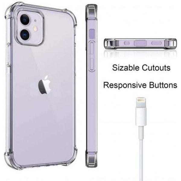 iPhone 12 Stötdämpande Silikon Skal Shockr® Transparent