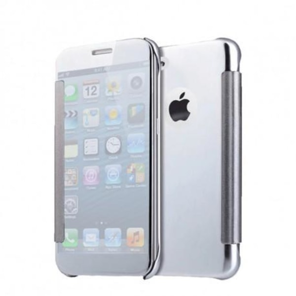 iPhone 6S Plus Flipfodral Clear View Standing Rocket® Silver