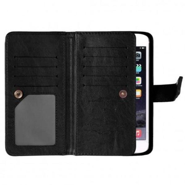 iPhone 8 Praktisk Plånboksfodral med 11-Fack Array® Black