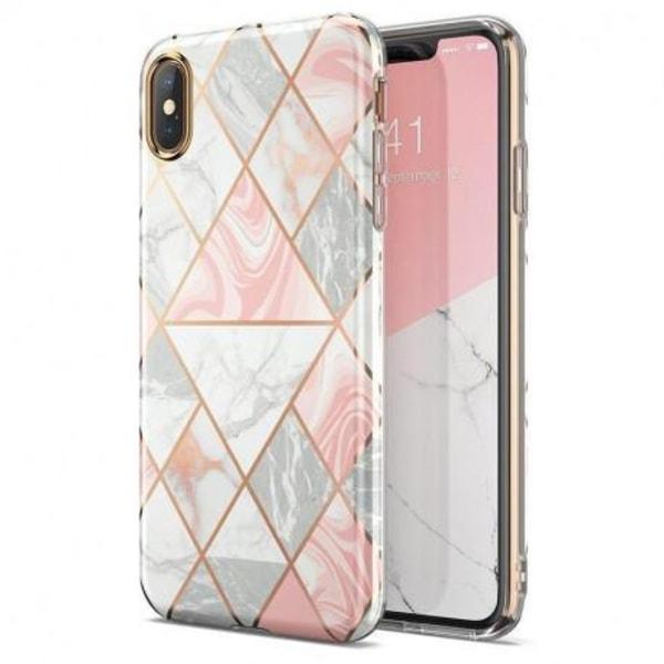 iPhone XR Stilrent Marmorskal Premium Rosa