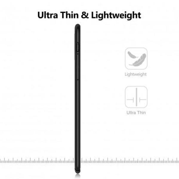 iPhone XS Ultratunn Gummibelagd Mattsvart Skal Basic® V2 Svart