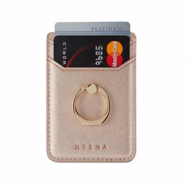 Korthållare med Mobilring RFID Säker Rosa guld