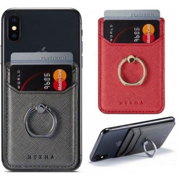 Korthållare med Mobilring RFID Säker Svart
