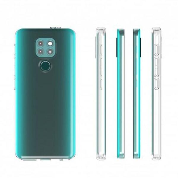 Motorola Moto E7 Plus Stötdämpande Silikon Skal Simple® Transparent