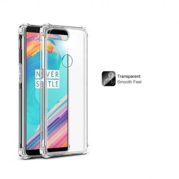 OnePlus 5T Stötdämpande Silikon Skal Shockr® Transparent
