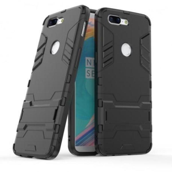 OnePlus 5T Stöttåligt Skal med Kickstand ThinArmor® Svart