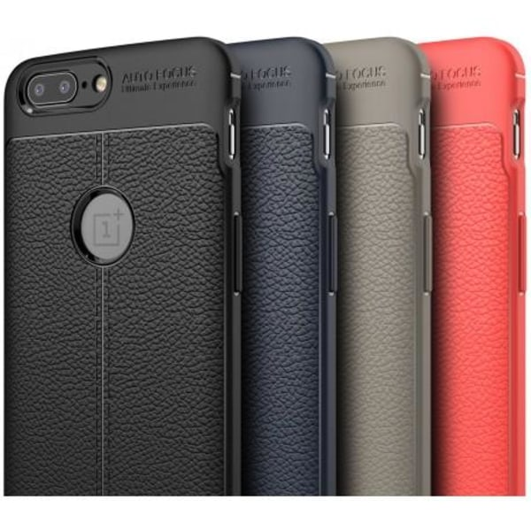 OnePlus 5T Stöttåligt & Stötdämpande Skal LeatherBack® Svart