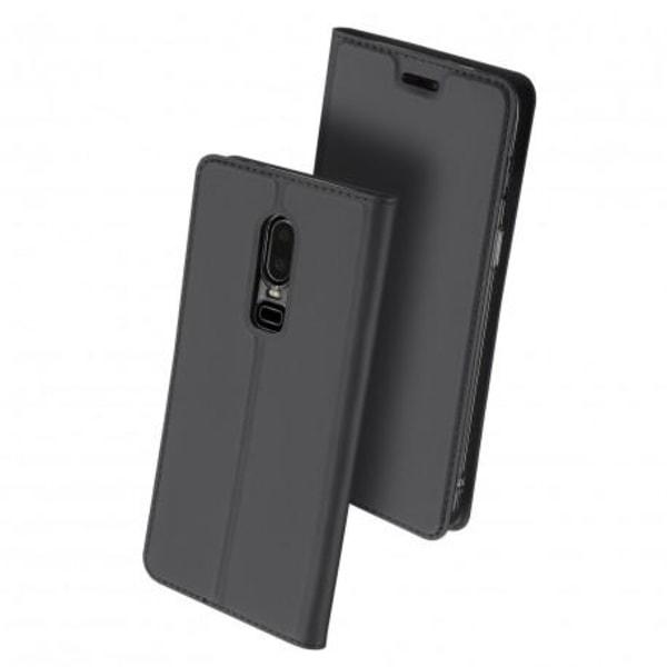 OnePlus 6 Flipfodral Smooth® Kortfack Svart