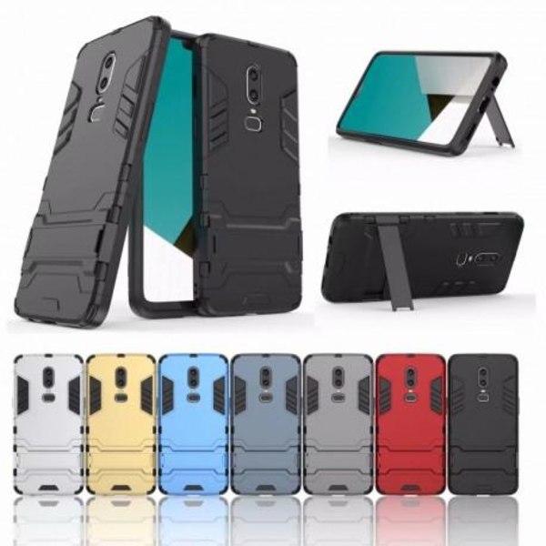 OnePlus 6 Stöttåligt Skal med Kickstand ThinArmor® Svart