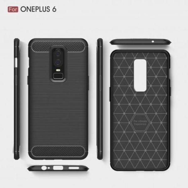 OnePlus 6 Stöttåligt Stötdämpande Skal SlimCarbon® Svart