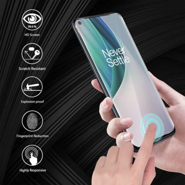 OnePlus Nord N10 FullFrame® Härdat glas 0.26mm 2.5D 9H Transparent