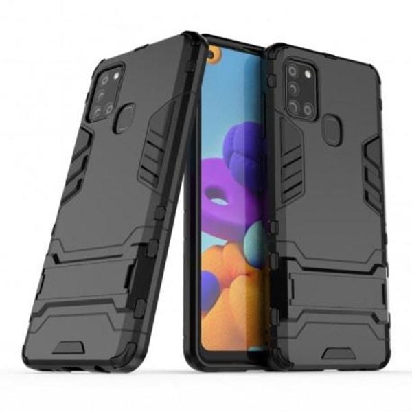 Samsung A21s Stöttåligt Skal med Kickstand ThinArmor® Svart